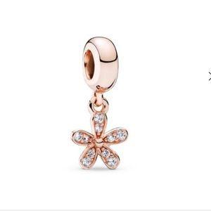 Dazzling Daisy Dangle Charm, Pandora Rose ™ & CZ